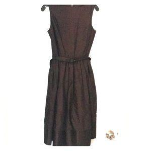 Isaac Mizrahi for Target brown belted dress